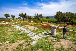 Grundriss des Innenhofs des antiken Krankenhauses des Asklepios. (c) Tobias Schorr