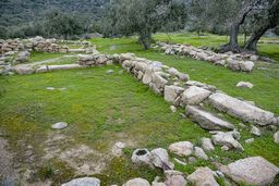 Mykenische Gebäuderreste aus der Zeit um 1400-1200 v.Chr. (c) Tobias Schorr