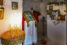 Ikonen in der Kapelle Agios Nikolaos in Vathy. (c) Tobias Schorr