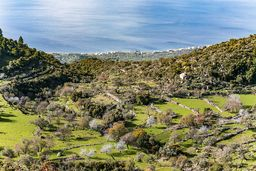 Blick in das Panagitsa-Tal oberhalb des Dorfs Megalochori. (c) Tobias Schorr