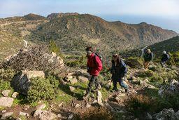 Wanderung auf der Route C, die vom Panteleimonas-Pass ins Zentralgebiet der Halbinsel Methana führt. (c) Tobias Schorr