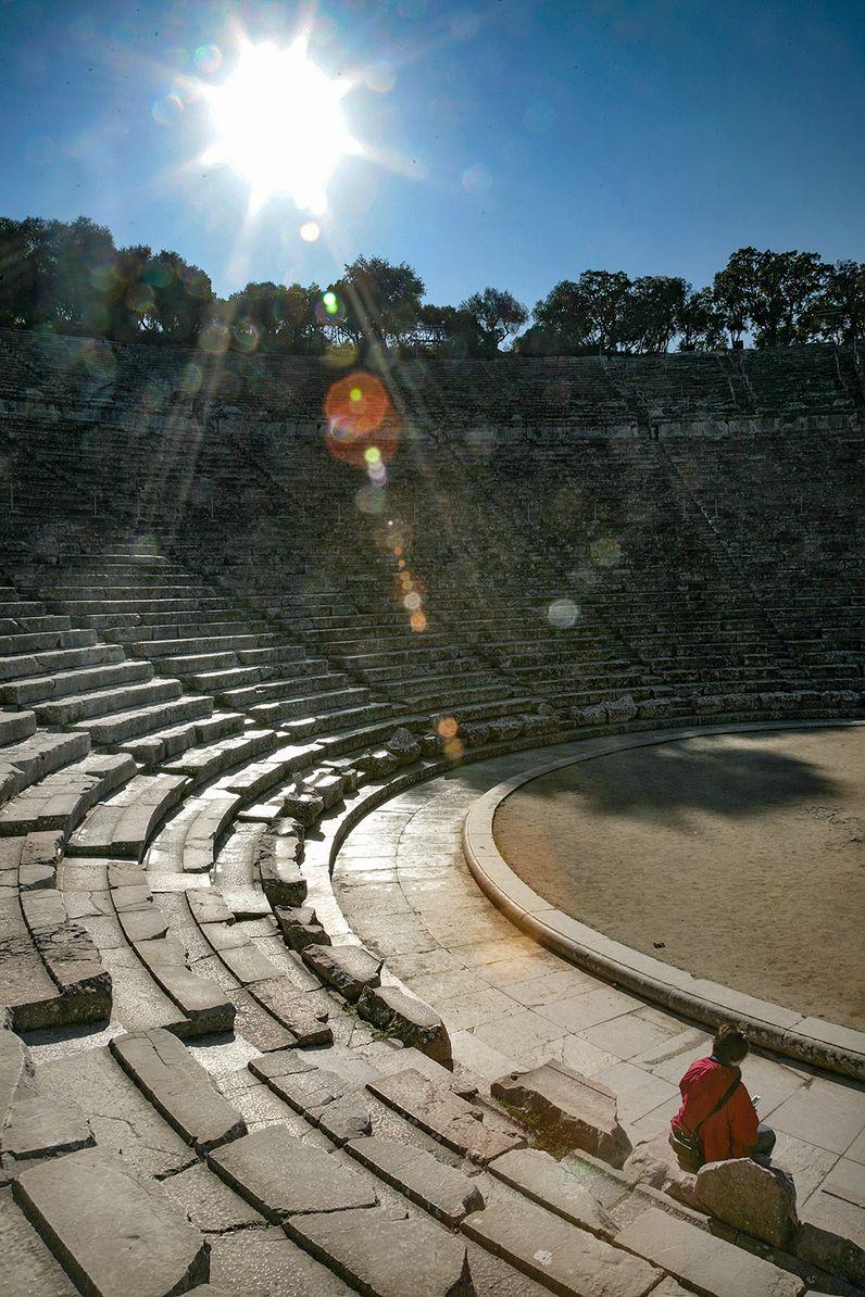 Das antike Theater von Epidaurus. (c) Tobias Schorr