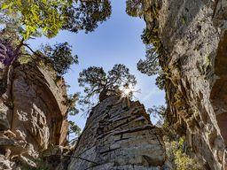 Die Zentralfelsen im historischen Lavadom, der 270 v.Chr. ausbrach