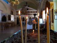 In der Kirche Agios Georgios