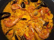 Frische Meeresfrüche auf spanische Art gekocht...