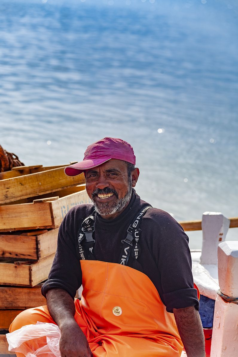 Ein ägyptischer Fischer in Methana. (c) Tobias Schorr