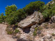 Antikes Weizenlager in den Bergen von Methana