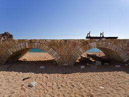 Eine kleine Brücke über der die Lohren zum Stollen fuhren (c) Tobias Schorr