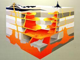 So muss man sich die Verteilung von Magma unter einem Vulkan vorstellen. (c) Tobias Schorr