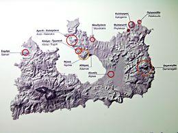 Fundorte von Obsidian auf Milos (c) Tobias Schorr