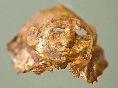Die kleine Goldmaske erinnert an die berühmten Goldmasken aus Mykene (c) Tobias Schorr