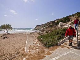 Besuch und Pause am Angathia-Strand auf West-Milos. (c) Tobias Schorr