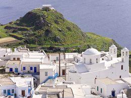 Blick auf das Dorf Plaka auf Milos. (c) Tobias Schorr