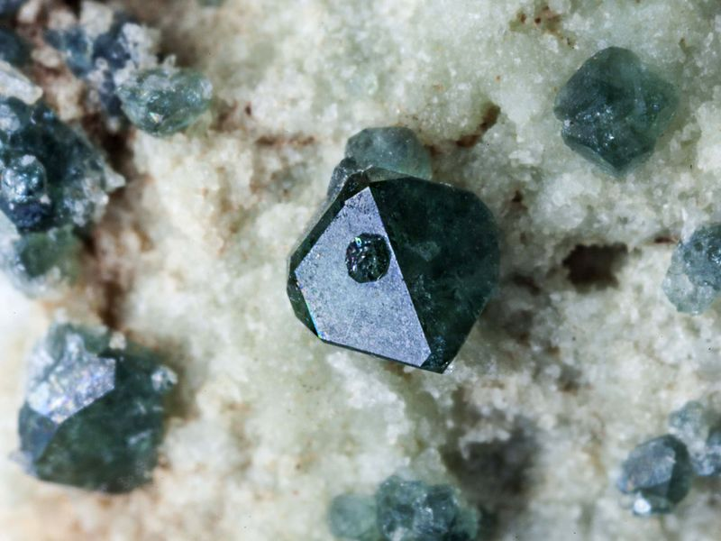Rare spinel crystal from the volcanic island of Nisyros in Greece