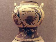 Vase mit Schwalbenmotiv aus Akrotiri