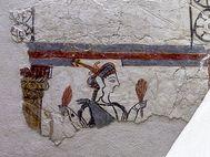 Eine der wenigen, erhaltenen Wandmalereien aus Mykene