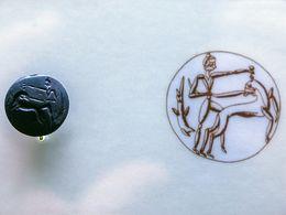 Mykenischer Siegelstempel, der z.B. in Tonamphoren oder Dokumente gedrückt wurde
