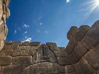 Das Löwenrelief am Löwentor in Mykene