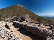 Blick auf den mykenischen Palast in dem sich vorgeschichtliche Tragödien abspielten...
