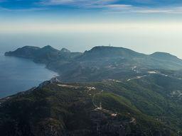 Flug über die Halbinsel Kefalos im Westen von Kos