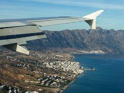 Kurz vor der Landung auf dem Flughafen der Insel Kos