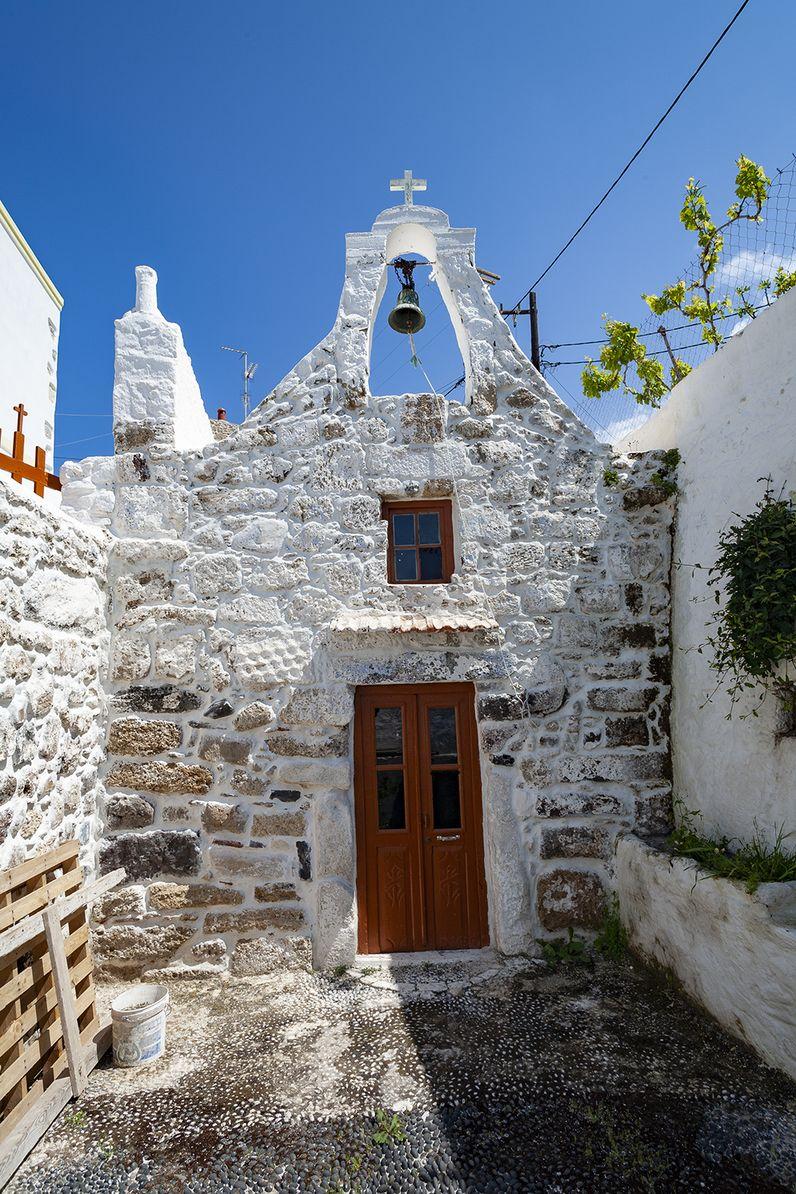Die Kapelle Agios Andreas im Hauptort Mandraki auf Nisyros. (c) Tobias Schorr