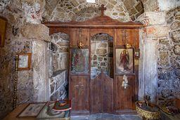 Innenraum der Kapelle Agios Andreas. (c) Tobias Schorr
