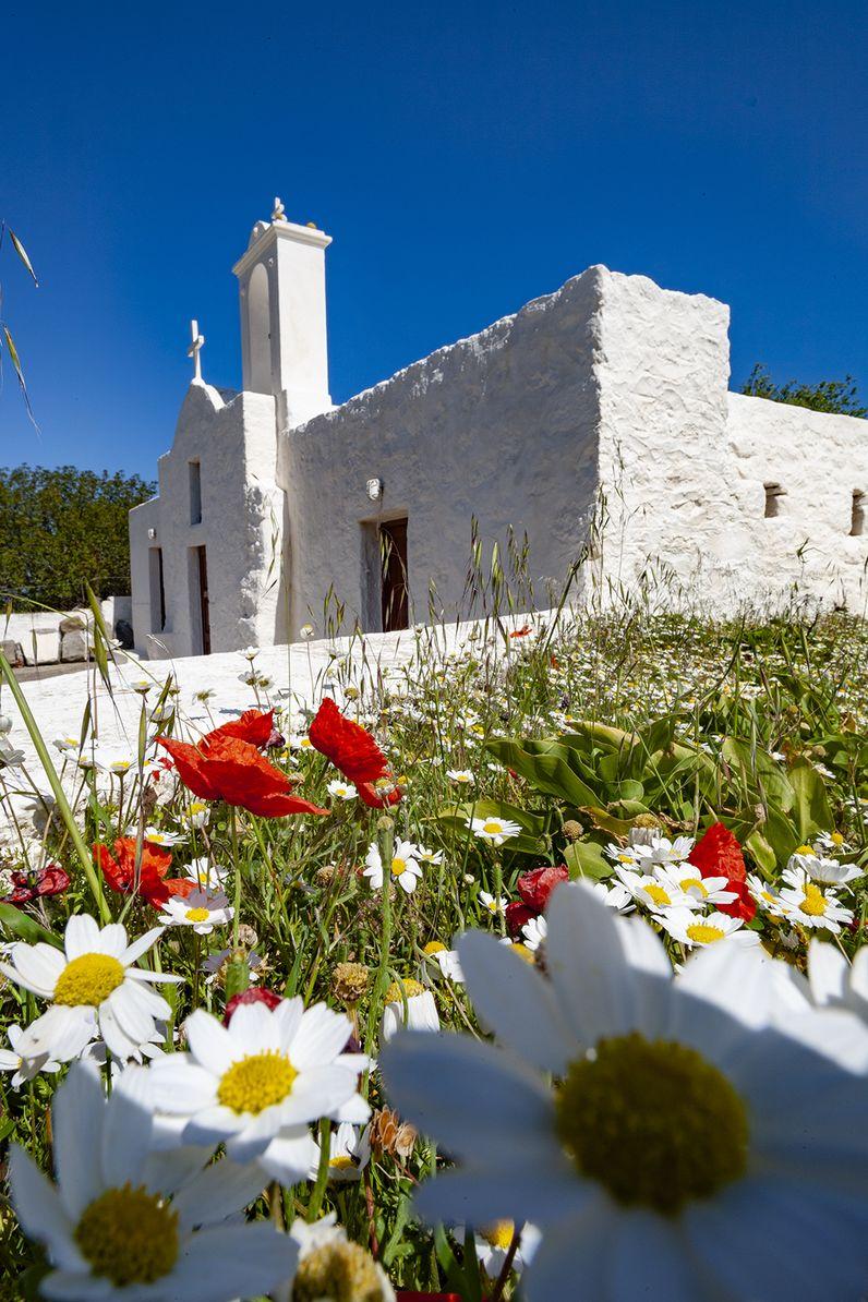 Die Kapelle Evangelistria in den Bergen von Nisyros. (c) Tobias Schorr