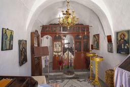 Der Innenraum der Evangelistria-Kapelle. (c) Tobias Schorr