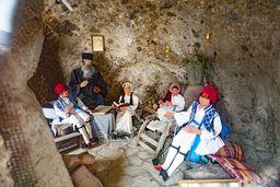 Darstellung des traditionellen Lebens auf Nisyros im Museum. (c) Tobias Schorr