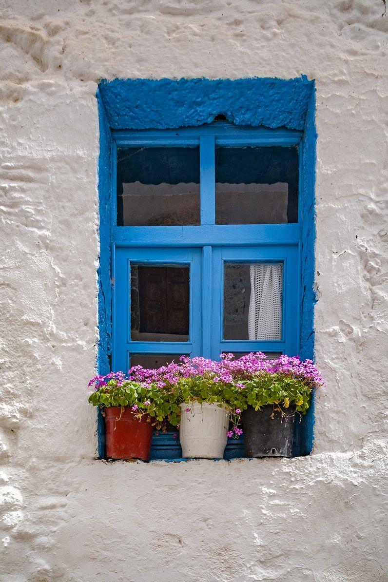 Ein altes Fenster in der Gasse zum Paliokastro. (c) Tobias Schorr