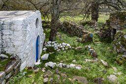 Die Kleine Panagia-Kapelle steht auf antiken Resten. (c) Tobias Schorr