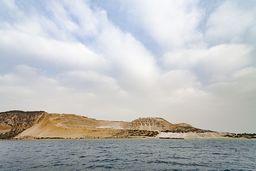 Die Insel Yali ist der Schatz von Nisyros, denn hier werden wichtige Baustoffe, wie Bims, abgebaut. (c) Tobias Schorr