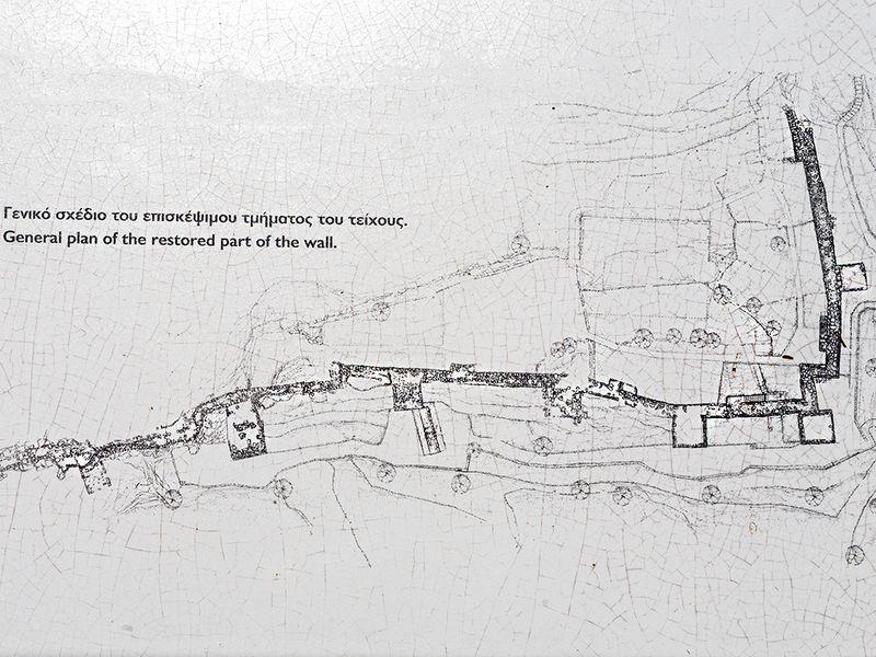 Skizze und Lageplan der Akropolis Paliokastro.