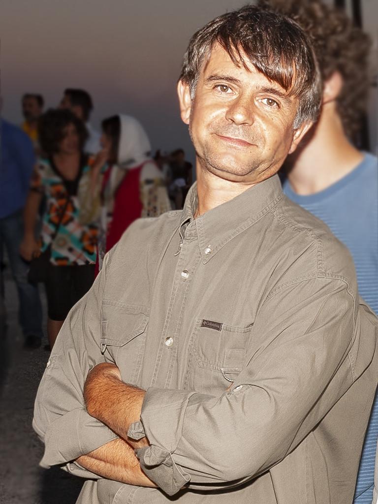 Georgis Vougioukalakis bei der Eröffnung des vulkanologischen Museums in Nikia auf der Insel Nisyros am 21 Juni 2008. (c) Tobias Schorr