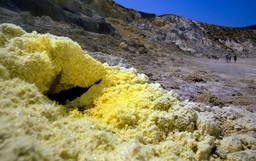Eine Fumarole im Stefanos-Krater. (c) Tobias Schorr