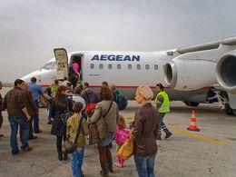 Ankunft mit Aegean Airlines