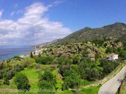 Blick auf den kleinen Lavadom, auf dem die antike Akropolis lag. (c) Tobias Schorr