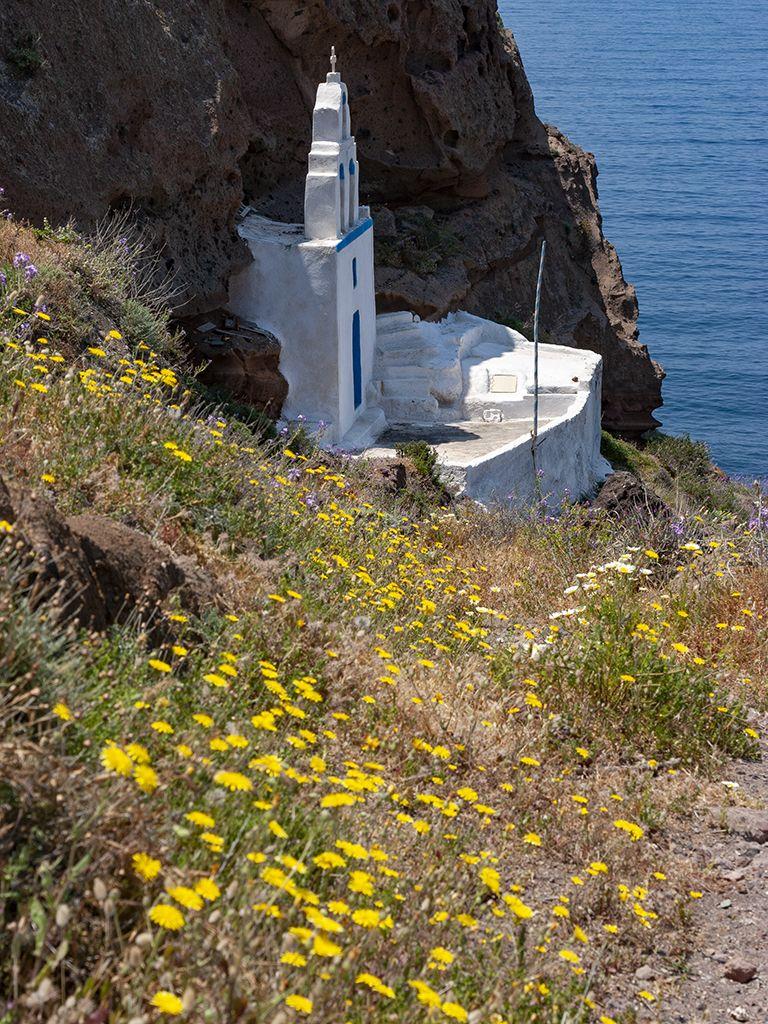 Die Panagia-Kapelle in der Nähe von Megalochori. (c) Tobias Schorr