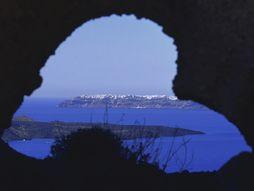 Das Fenster von Santorin