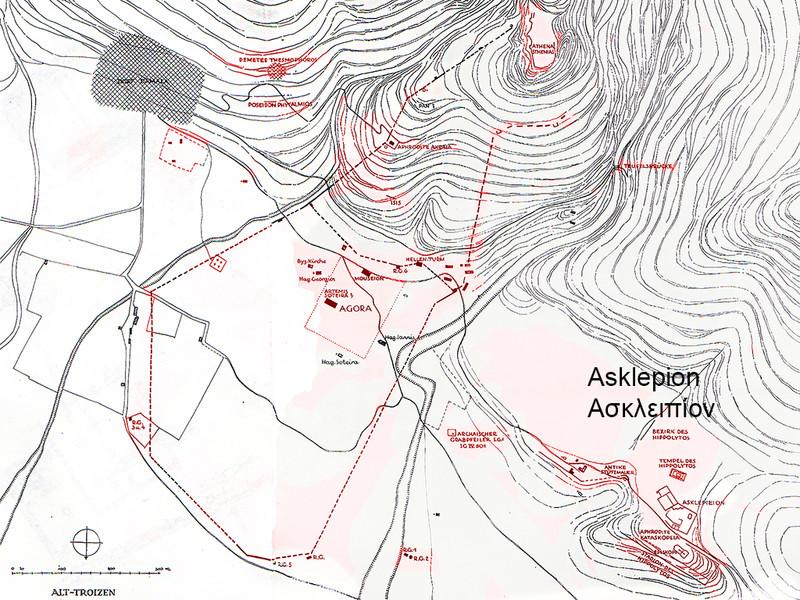 Lageplan von Gabriel Welter 1942 von Troizen