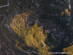 Der Lavadom Profitis Ilias aus der Luft