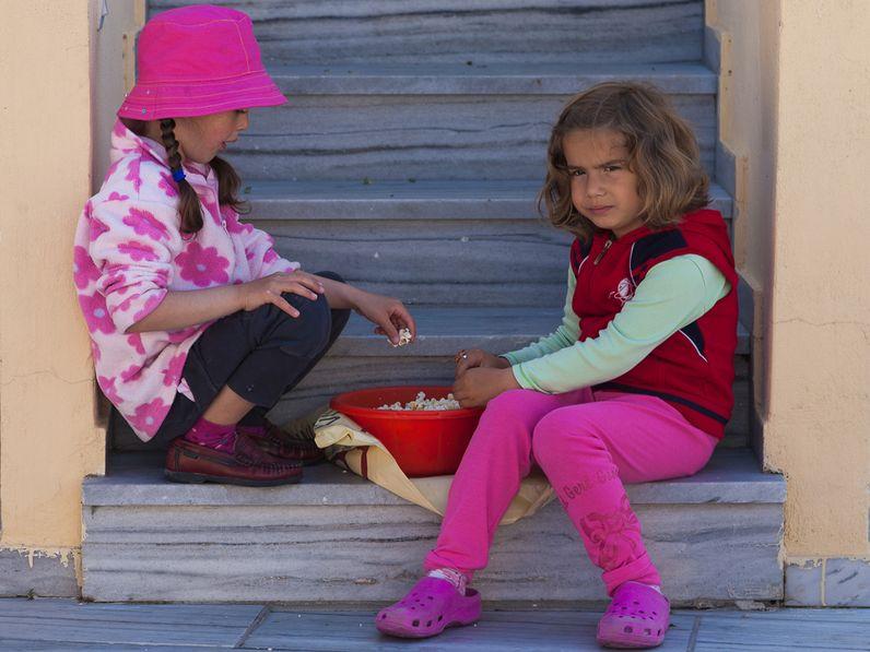 Kinder in Pyrgos. (c) Tobias Schorr