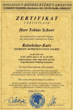 Το γερμανικό διπλώμα ξεναγού του Τωβίας Σώρρος