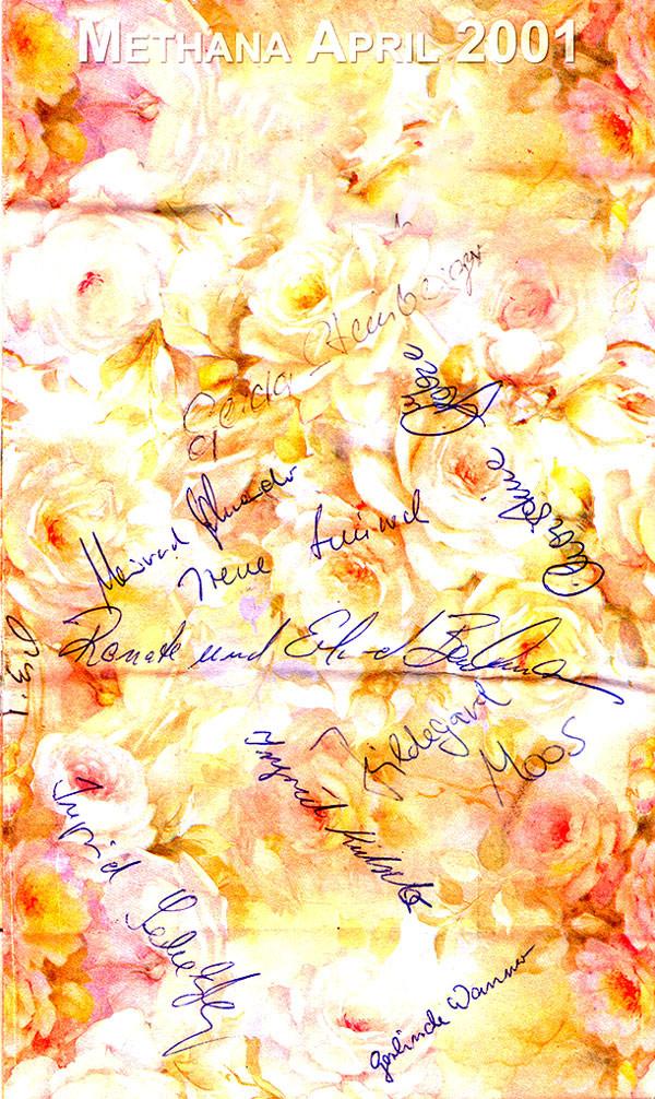 Eine Rückmeldung zur Reise im Frühling 2001.