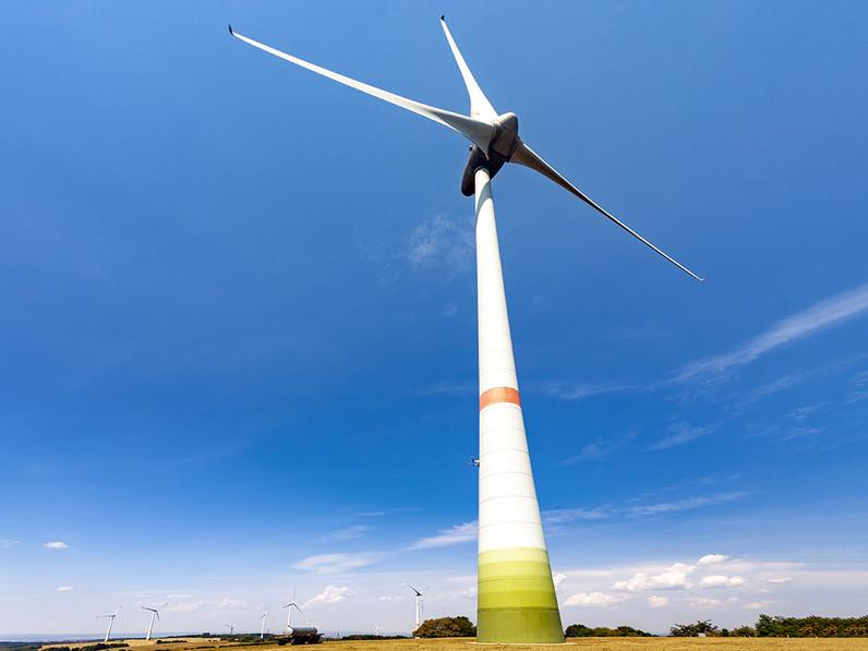 Windkraftanlage auf dem Himmelberg bei Freisen. (c) Tobias Schorr 2020