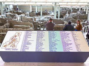 Blick in die Ausgrabung von Akrotiri