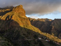 The steep mountains at Masca