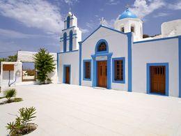 Die Kirche Agios Charalambos auf Thirasia