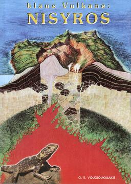 Titelbild des geologischen Führers mit einem Querschnitt, wie man sich den Vulkan Nisyros vorstellen kann. (c) Giorgis Vougioukalakis 1998